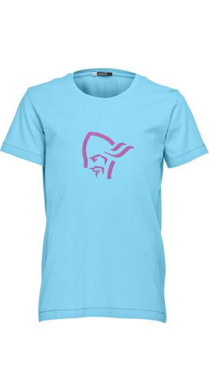 Norrøna Junior /29 Cotton Logo T-Shirt Cyantastic